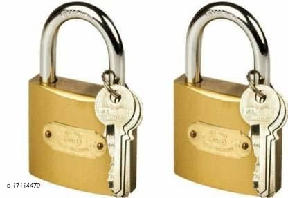 Lock 50 mm With 3 Keys Gold (Pack Of 2)