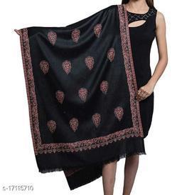 Women's Wool Blend, Designer Paisley Pattern, Soft Woven Stole / Shawl