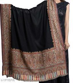 Women's Fine Wool, Kaani Heavy Palla with Border, Pashmina, Kashmiri  Soft & Warm Shawl