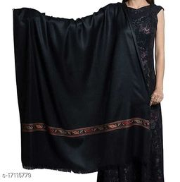 Women;s Fine Wool Kullu Design Palla, Jacquard Woven Soft & Warm Shawl