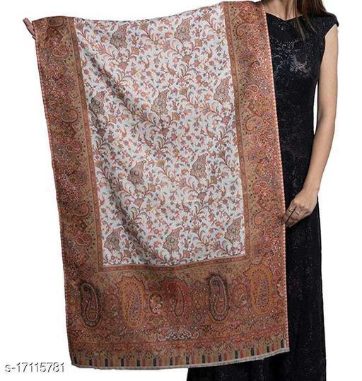 Women's Fine Wool Kaani Jaal Design, Floral Paisley Pattern, Kashmiri Stole / Shawl