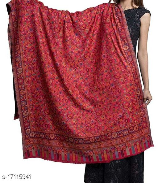 Women's Fine Wool, Kaani Jall Design, Floral Paisley Pattern, Kasimiri Soft and warm Shawl