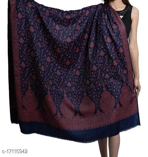 Women's Fine Wool Jamawar Jaal, Paisley Floral Pattern, Kashmiri Soft & Warm Shawl