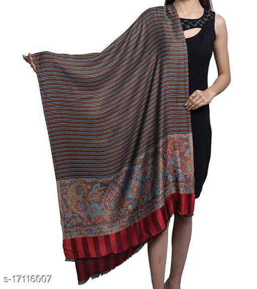 Women's Modal Silk, Paisley Pallawiht Multi Stripes, Designer Soft Woven Stole / Shawl