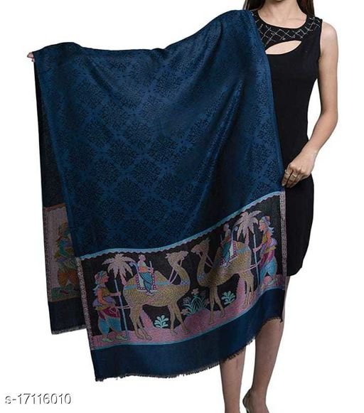 Women's Modal Silk, Desginer Camel Pattern, Self Embellished, Soft Stole / Shawl
