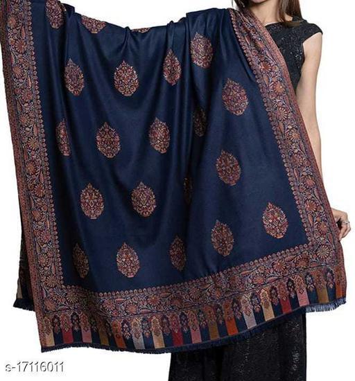 Women's Fine Wool, Kaani Palla with Designer Motifs, Kashmiri, Soft & Warm Shawl
