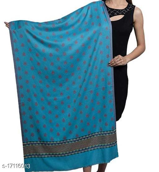 Women's Wool Blend, Designer Jacquard Woven, Soft Stole / Shawl