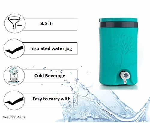 Cool Star Plastic Insulated Water Jug, 5 litres - Made in India (Multi Color)