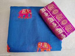 Embroidered Chanderi Cotton Sarees