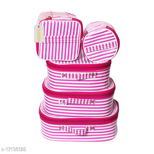 High Qulity Set of-5pc Multipurpose Cosmetic  Storage Box with Makeup Kit  Vanity Box