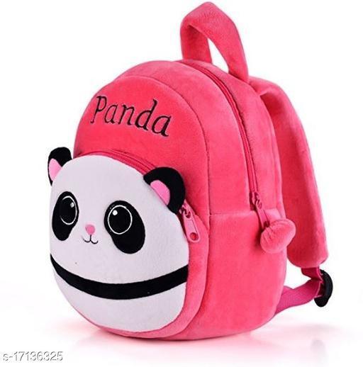 Frantic Velvet Kids School Bag - Best Pink Panda