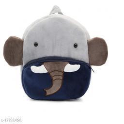 Frantic Velvet Kids School Bag - Blue Elephant