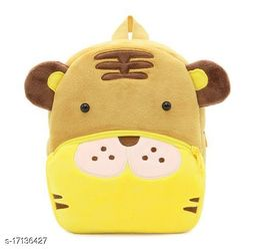 Frantic Velvet Kids School Bag - Brown Tiger