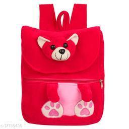 Frantic Velvet Kids School Bag - HKT Pink Teddy