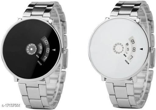 K&U White_Paidu 58897Black-001 COMBO-Watch - For Men Analog Watch - For Men