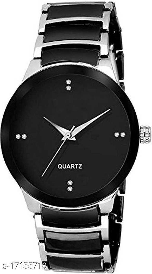 silver men wrist watch