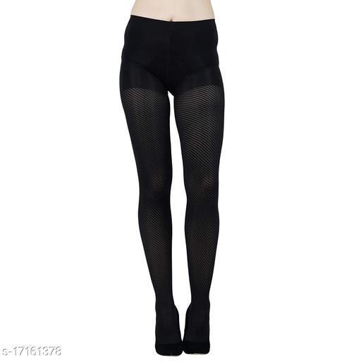 N2S NEXT2SKIN Women's Spandex Pantyhose Stockings (Black D)
