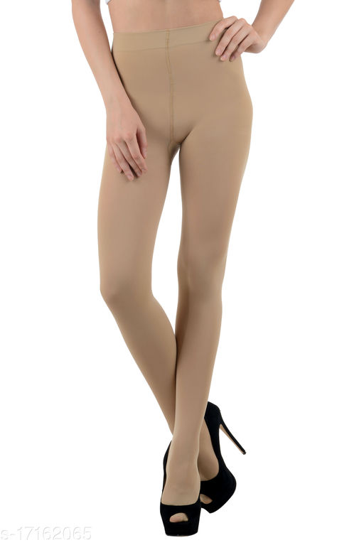 N2S NEXT2SKIN Women's Nylon Opaque Pantyhose Stockings, High Denier Soft and Comfortable with Super Stretch Waistband (Skin Beige)