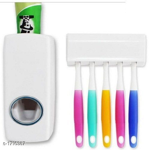 Toothpaste Dispenser With Detachable Toothbrush Holder