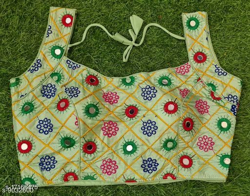 gamthi special party wear mirror work blouse