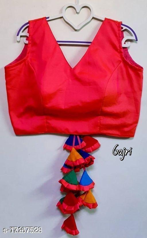 Trendy Taffeta Silk Stylish Blouse