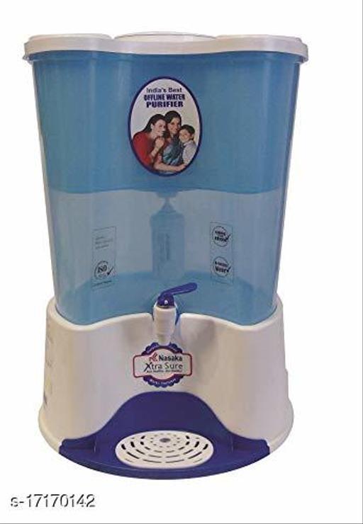 Nasaka Xtra Sure 20 L Gravity Based Water Purifier (White, Blue)