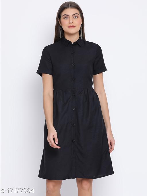 Black Stealth Classy Women Dress