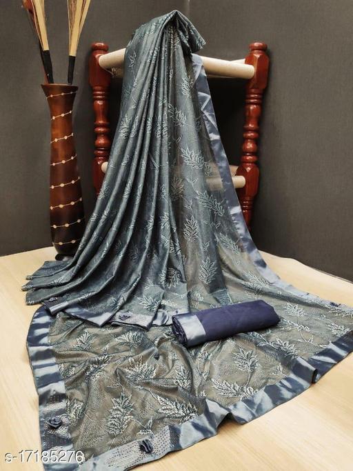 Fancy Lycra silk saree