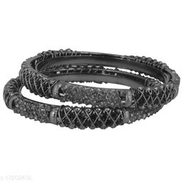 Piah Fashion Alluring   silver oxisidied  Brass Bangles  For Woman & girls