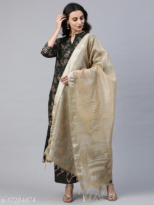 Women Cotton Straight Printed Long Kurti With Palazzos