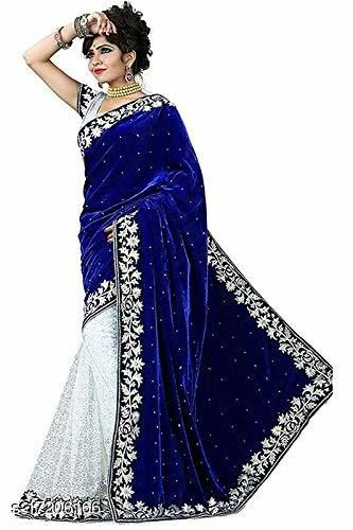 Womens Half Half Velvet Saree