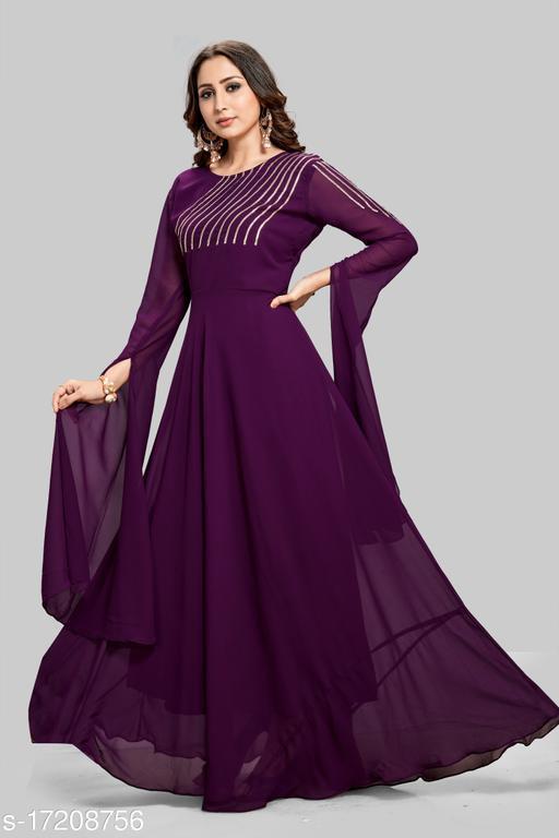 Women Georgette Anarkali Gown