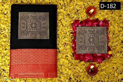 Soft Silk Rich Pallu Saree for Wedding & Party wear With Brocode Blouse.