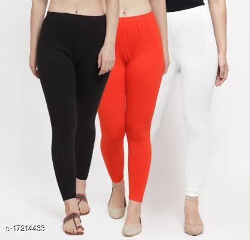 Gorgeous Fabulous Stylish Women Ankle Length Leggings Combo of 3