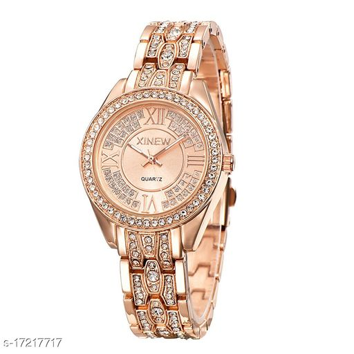 Miss Perfect Perfect collegeion look Rouden Dial Diamond Chain watch for Women Analog Watch - For Women