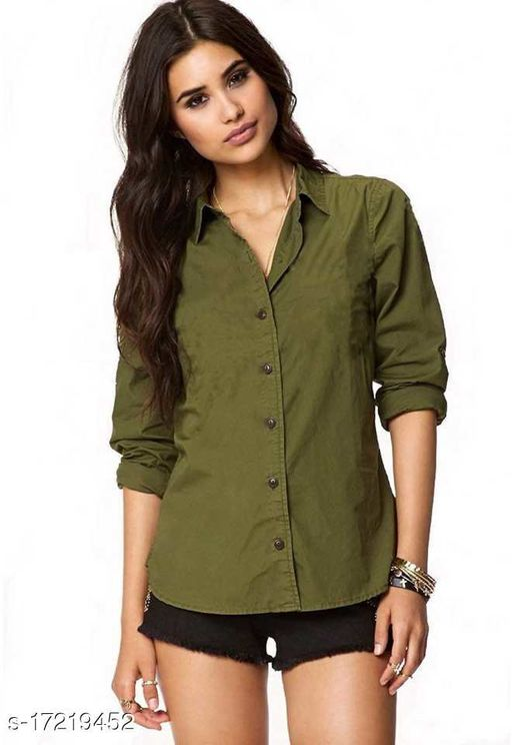 ahloxia Women's Attrective Designer Rayon shirt