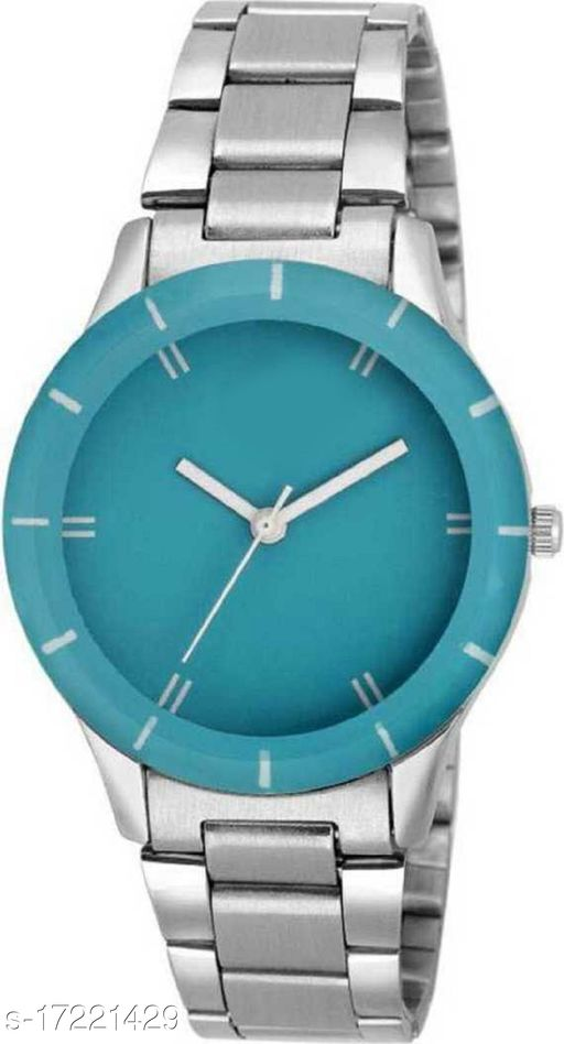 Miss Perfect D2130SM01 New Sky Blue Dial Silver Watch - For Women Analog Watch
