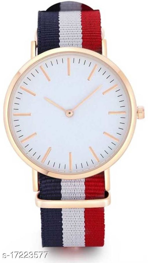 Miss Perfect SCWDWBR New Special Collection White Round Dial And Fabric Strep Analog Watch