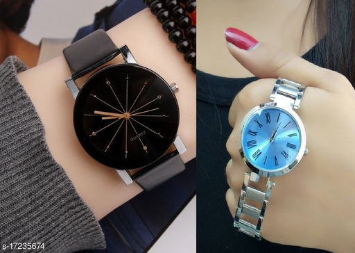 Attractive dial colour womens watches(Pack of 2)