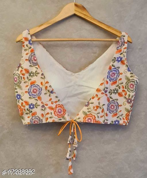 digital print and embroidery coding work stiched blouse