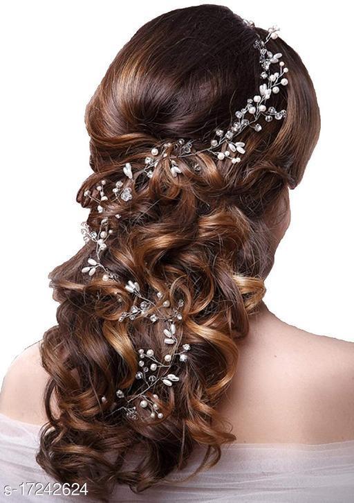 Attractive Women's   Silver Acrylic Hair Pin