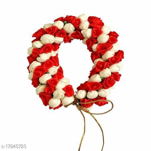 VinshBond  Flower Hair Mogra Bun Gajra Juda  Accessories for Women