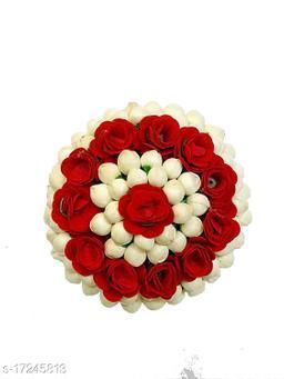 VinshBond Bridal Bun Gajra Hair Flower Bun Gajra  for Women