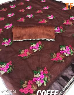 Party wear Net Embroidered Sarees