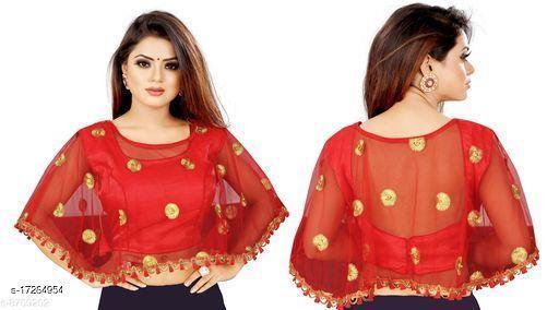 Nirmita Net Embrodered Pearl Work Designer blouse