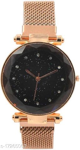 RT-156 MAG-2 Luxury Mesh Magnet Buckle Starry sky Quartz Watches For girls Fashion Clock Mysterious Rose gold Lady Analog Watch
