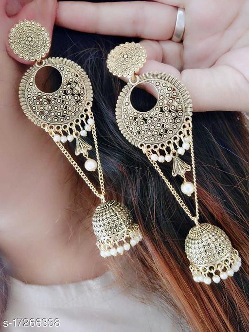 Beauty Dream Fancy Stylish Casual & Party Wear Gold Color Earring Jhumki For Girl's/Women Alloy Jhumki Earring