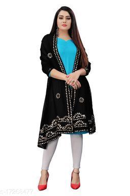 Chiffon Embellished BLACK Women Dupatta