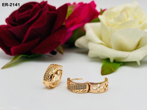 Fancy Rose Gold Earrings For Girls & women