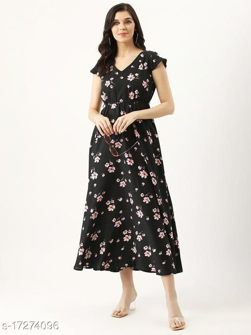Yashpa Women Crepe Maxi Gown